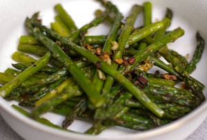 Green Garlic & Roasted Asparagus